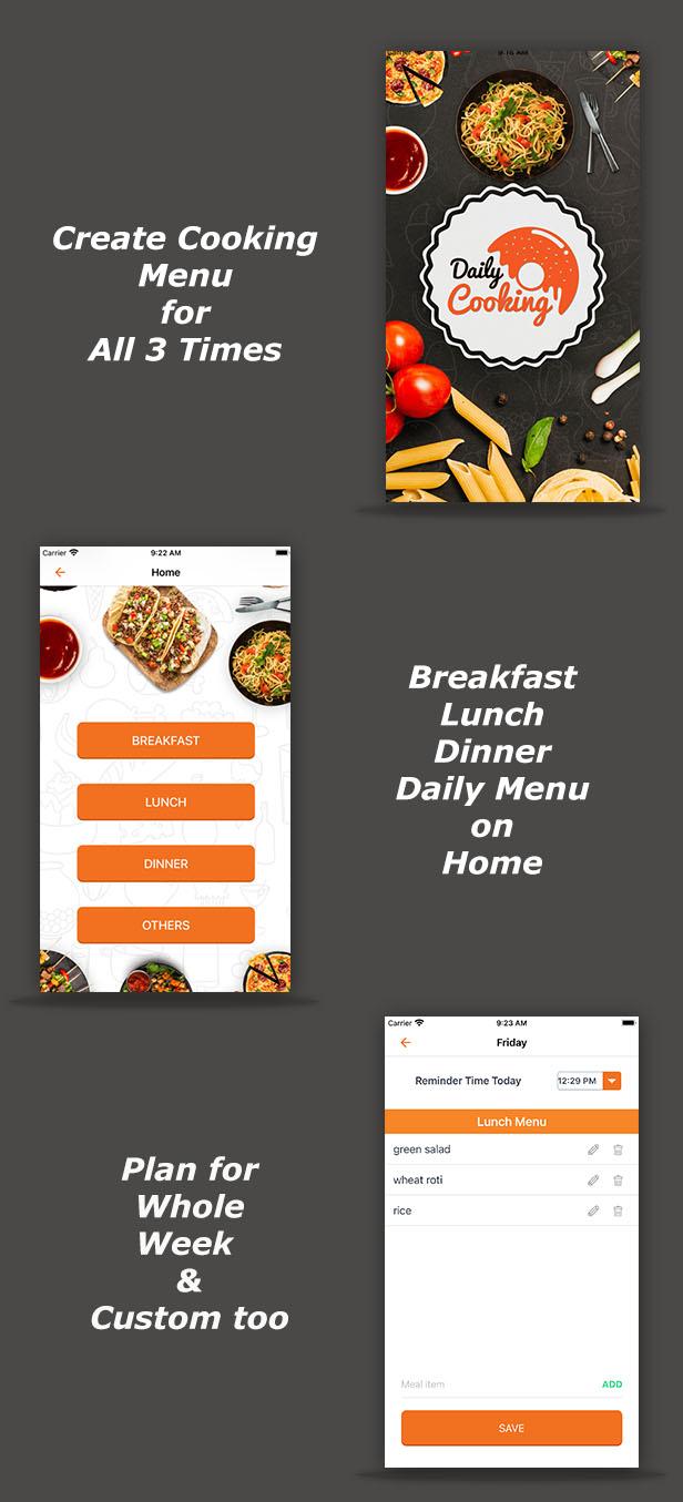 Cooking Reminder App