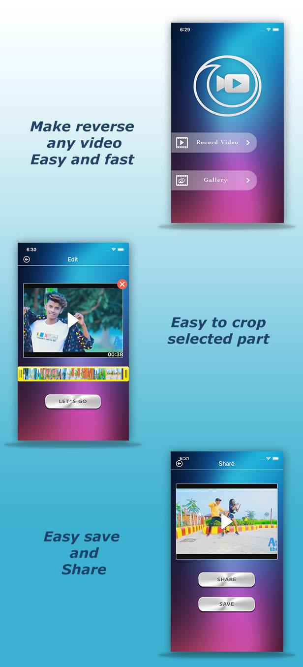 Video Reverse iPhone iPad App